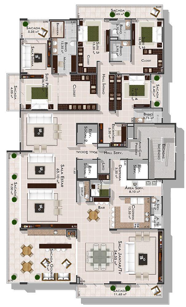 4 Quartos - Unique Residence